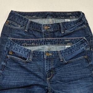2 Pair of Eddie Bauer Curvy Bootcut Jeans